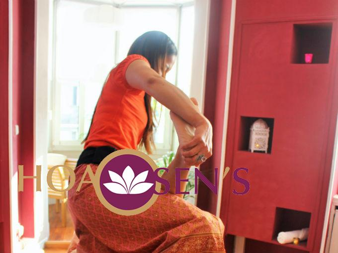 Massage thai jambes